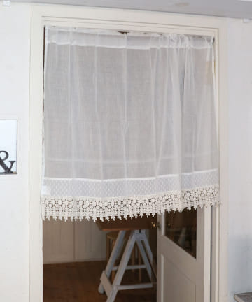 salut!(サリュ) 裾切替レースロングカフェカーテン