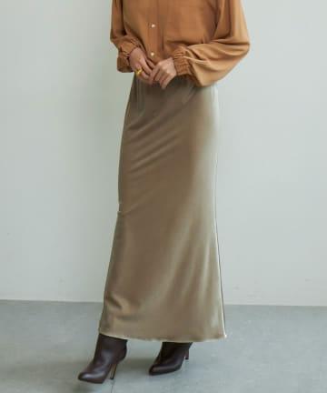 GALLARDAGALANTE(ガリャルダガランテ) バイヤスベロアマキシスカート