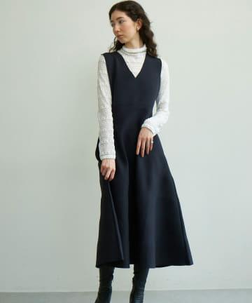 GALLARDAGALANTE(ガリャルダガランテ) スムースニットジャンパースカート