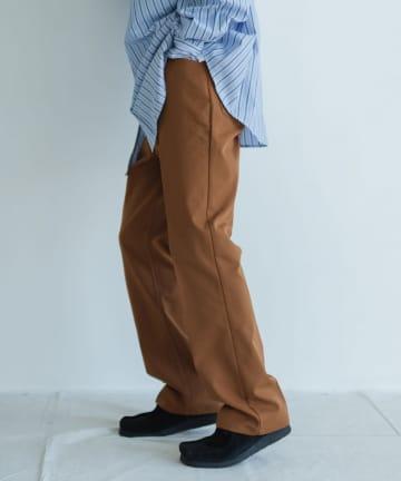 Kastane(カスタネ) 【WHIMSIC】SHOE CUT PANTS-POLY TWILL