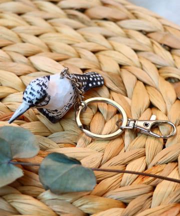 salut!(サリュ) 【野鳥の会】木彫り野鳥キーホルダー(YAMASEMI)