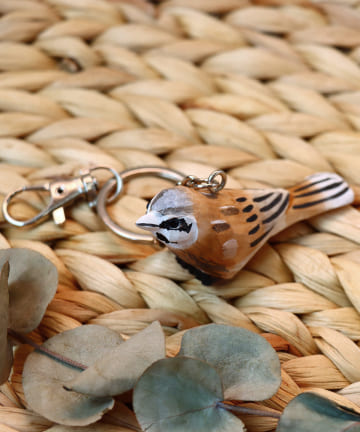 salut!(サリュ) 【野鳥の会】木彫り野鳥キーホルダー(HOOJIRO)