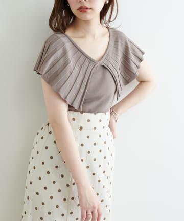 natural couture(ナチュラルクチュール) 【WEB限定】ビッグカラーニット