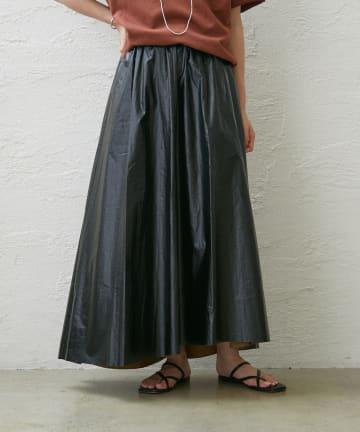 Omekashi(オメカシ) レザーライクギャザースカート