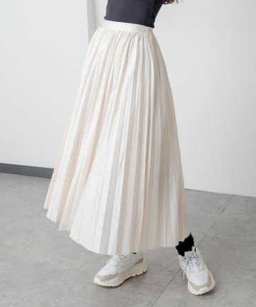 RASVOA(ラスボア) フェイクレザープリーツスカート
