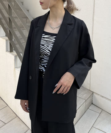 RASVOA(ラスボア) ウールライクダブルテーラードジャケット