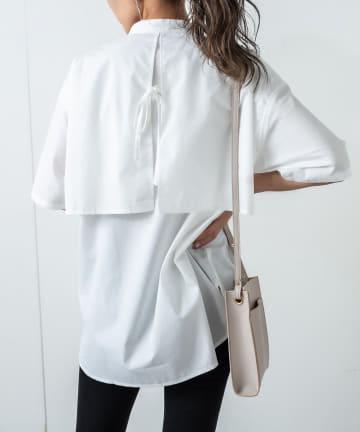 RASVOA(ラスボア) ケープデザインオーバーシャツ