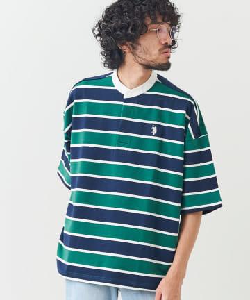 CPCM(シーピーシーエム) 【U.S. POLO ASSN.】バンドカラーラガーシャツ