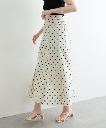 natural couture(ナチュラルクチュール) 【着用動画】WEB限定カラー有り】osono長さ変えられる綿麻ドットスカート