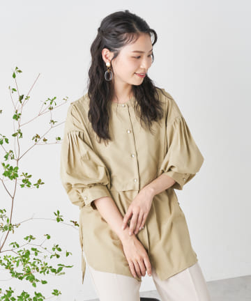 OLIVE des OLIVE OUTLET(オリーブ・デ・オリーブ アウトレット) フェークレィヤードブラウス