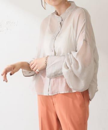 Discoat(ディスコート) 【WEB限定】シアーショートブラウス