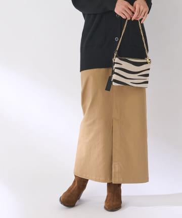 La boutique BonBon(ラブティックボンボン) 《予約》【手洗い可】カツラギストレッチマキシナロースカート