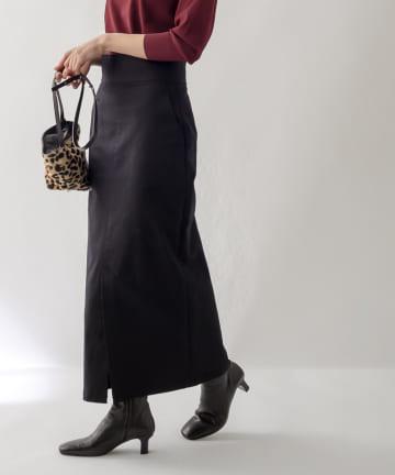 La boutique BonBon(ラブティックボンボン) 【手洗い可】カツラギストレッチマキシナロースカート