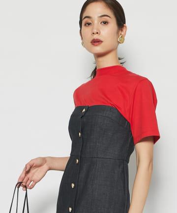 La boutique BonBon(ラブティックボンボン) 《予約》モックネックTシャツ