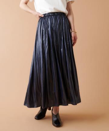 COLLAGE GALLARDAGALANTE(コラージュ ガリャルダガランテ) レザーサテンギャザースカート