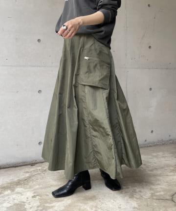 CAPRICIEUX LE'MAGE(カプリシュレマージュ) ナイロンカーゴZIPポケスカート
