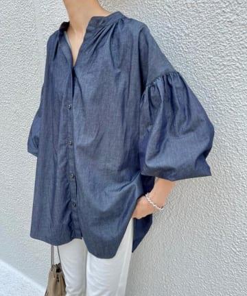 BEARDSLEY(ビアズリー) 《予約・クーポン10%OFF》デニムギャザーシャツ