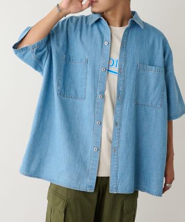 Discoat(ディスコート) ライトデニムビッグシャツ