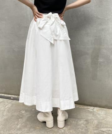 one after another NICE CLAUP(ワンアフターアナザー ナイスクラップ) 美シルエットリボンスカート
