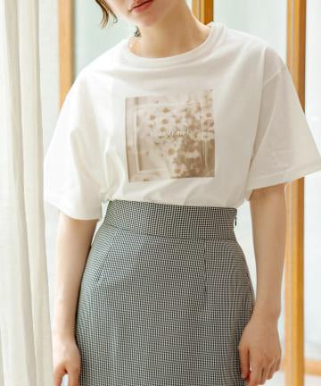 OLIVE des OLIVE(オリーブ デ オリーブ) emo-photoプリントTシャツ