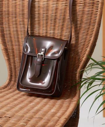 CPCM(シーピーシーエム) PVCベルト付ショルダーバッグ