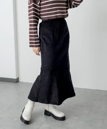 RASVOA(ラスボア) コーデュロイマーメイドスカート