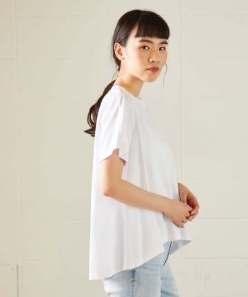 OUVRAGE CLASSE(ウヴラージュクラス) バックタックフレアTシャツ【オンラインストア限定販売】