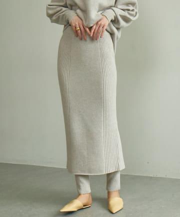 GALLARDAGALANTE(ガリャルダガランテ) リブニットスカート