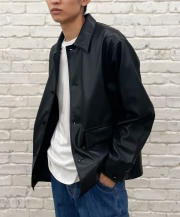 CIAOPANIC(チャオパニック) シンセティックレザーシャツジャケット