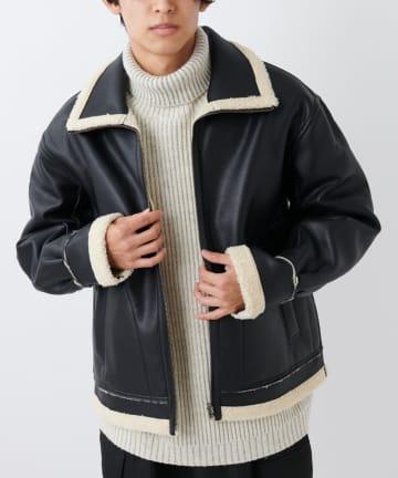 CIAOPANIC(チャオパニック) リバーシブルボアフライトジャケット