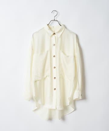 CIAOPANIC(チャオパニック) ビッグポケットオーバーシャツ
