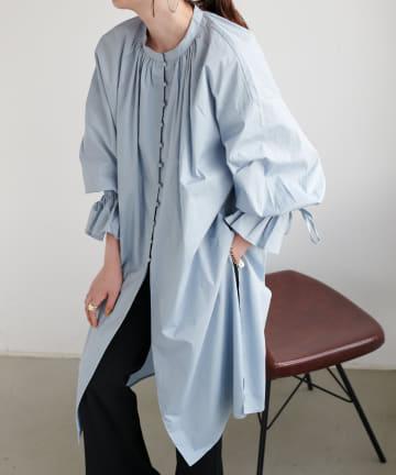 Discoat(ディスコート) ブロード多釦使いチュニックシャツ