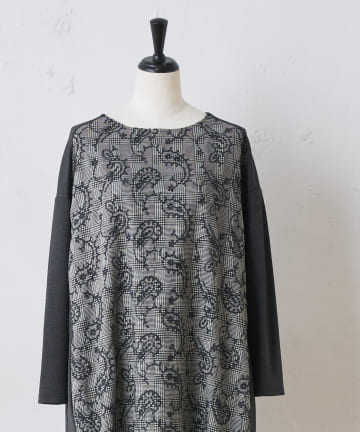 BEARDSLEY(ビアズリー) ペイズリー刺繍ワンピース