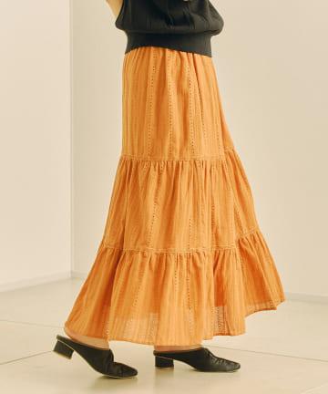 Chez toi(シェトワ) ボイルカラミ織スカート