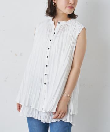 BONbazaar(ボンバザール) ノースリレイヤードシャツ