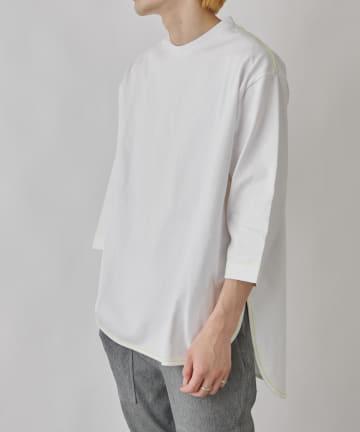 COLONY 2139(コロニー トゥーワンスリーナイン) 10/OE配色ステッチ前後差7分袖Tシャツ/ビッグシルエット※ユニセックス対応