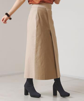 Chez toi(シェトワ) 配色ラップミリタリースカート