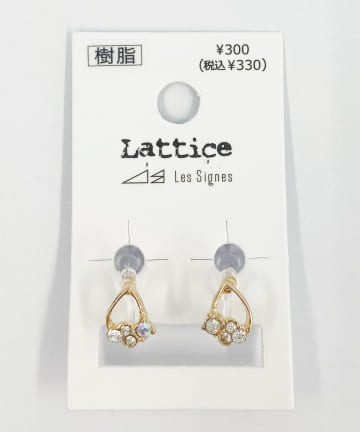 Lattice(ラティス) ストーン樹脂イヤリング