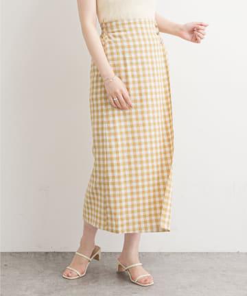 natural couture(ナチュラルクチュール) ギンガムチェックスカート