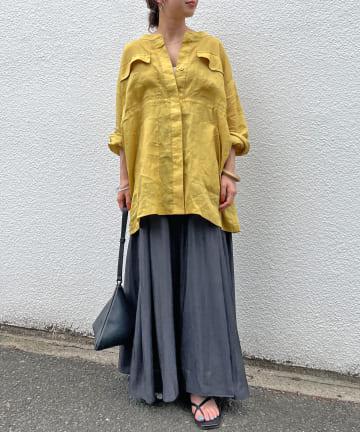 Omekashi(オメカシ) リネンサファリシャツ