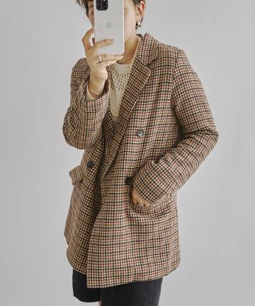 CPCM(シーピーシーエム) ガンクラブチェックWブレストジャケット