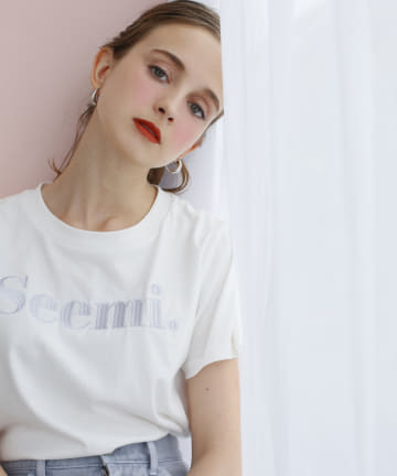 Seemi.by NICE CLAUP(シーミーバイナイスクラップ) Seemi刺しゅうTee