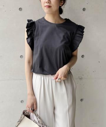 CAPRICIEUX LE'MAGE(カプリシュレマージュ) フリルTシャツ