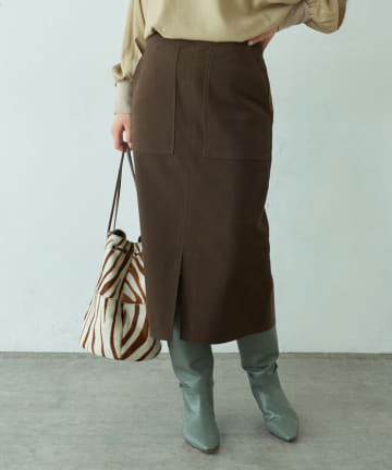 LIVETART(リヴェタート) フェイクスエードタイトスカート