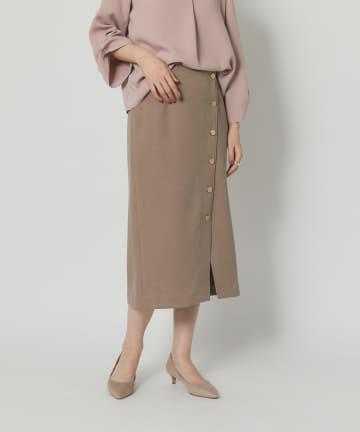 RIVE DROITE(リヴドロワ) 【女らしさを盛り上げる】ブークレボタンスカート