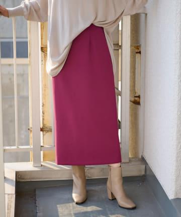 RIVE DROITE(リヴドロワ) 【女性らしいシルエットが魅力】ジャージライクストレートスカート
