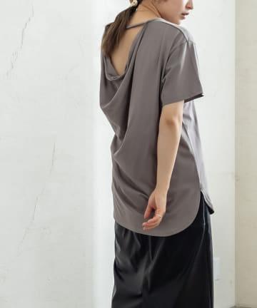 mystic(ミスティック) シルケットバックドレープTシャツ