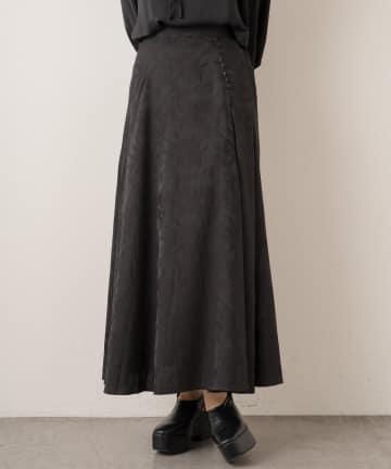 Lui's(ルイス) ボタニカル柄ジャガードフレアスカート