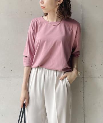 CAPRICIEUX LE'MAGE(カプリシュレマージュ) カットアウトスリーブTシャツ