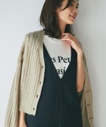 La boutique BonBon(ラブティックボンボン) 【別注・洗える】Les Petits Basics ロゴTシャツ Black